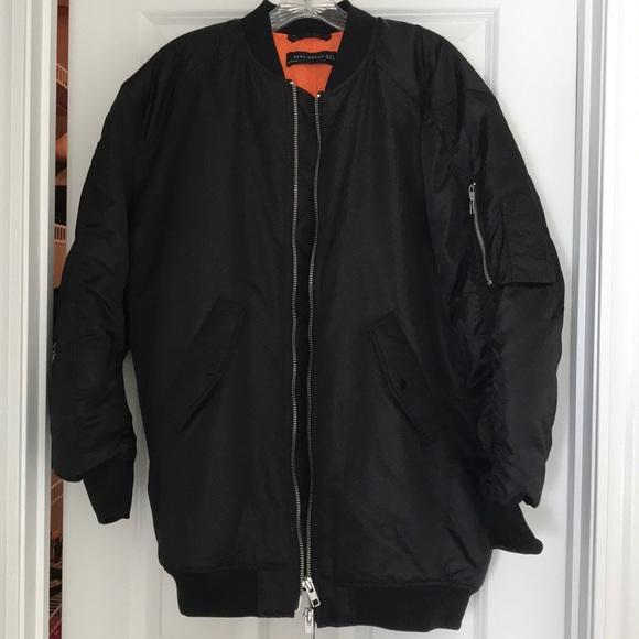 4fea684ea Zara - Black Oversized Bomber Jacket NWT